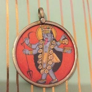 Jewelry - Kali Ma, Hindu Goddess Silver Pendant